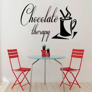 Chocolate Therapy Sticker Vinyl Wall Art