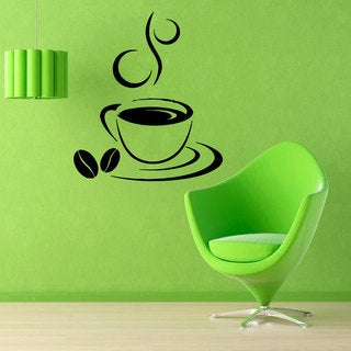 Coffee Cup Sticker Vinyl Wall Art