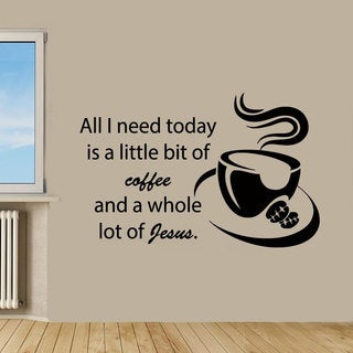 Kitchen Decor Coffee Sticker Vinyl Wall Art
