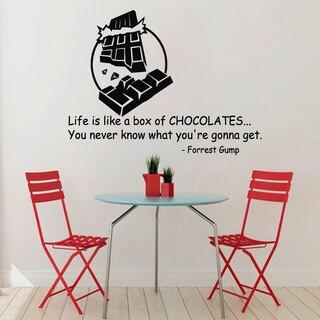 Life is Like a Box of Chocolates' Sticker Vinyl Wall Art