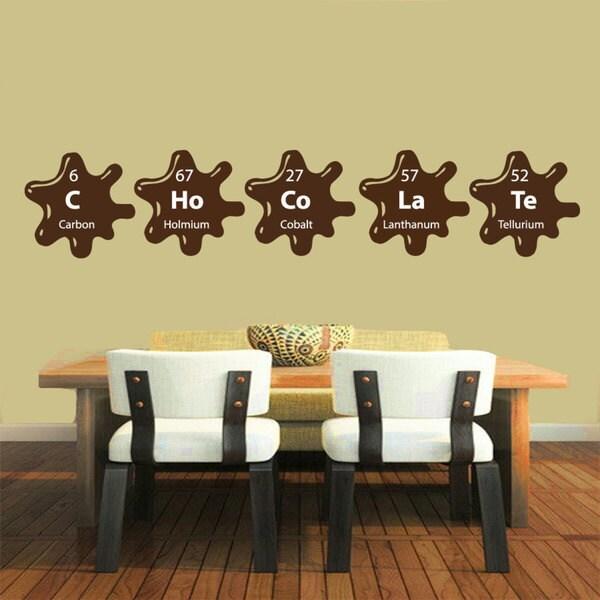 Shop Chocolate Elements Kitchen Decor Sticker Vinyl Wall Art - Free ...