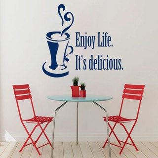 "Enjoy Life It's Delicious"" Sticker Vinyl Wall Art"