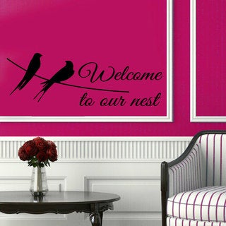 'Welcome to our Nest' Family Quote Vinyl Sticker Wall Art