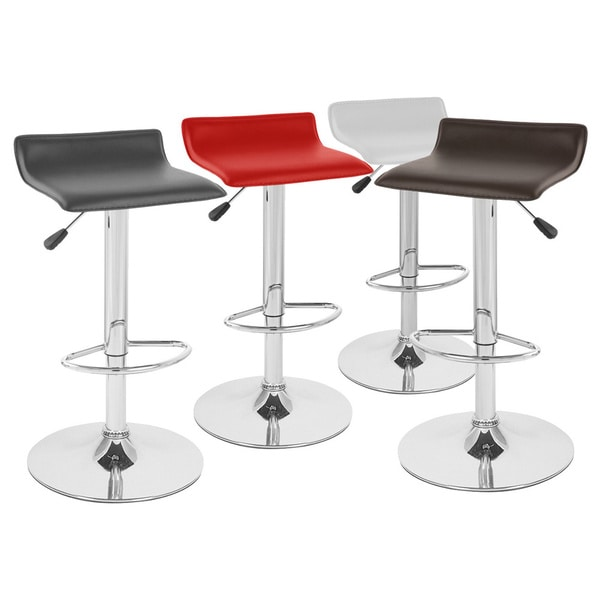 Sigma Contemporary Leather Adjustable Barstool