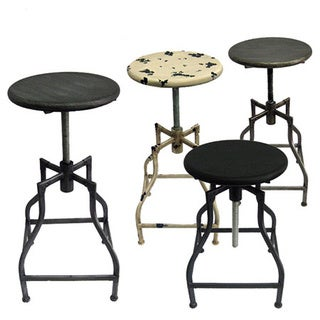 Bristol Retro Steel Rotating Adjustable Height Barstool (Set of 4)