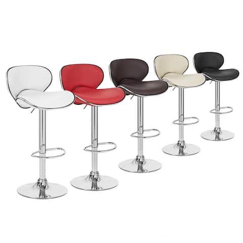 Set of 4 Kappa Contemporary Adjustable Barstool