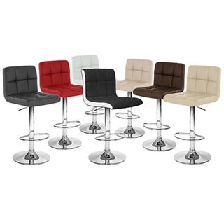 Boris Contemporary LeatherAdjustable Barstool (Set of 4). Opens flyout.