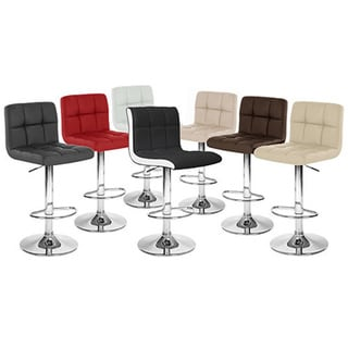 Boris Contemporary LeatherAdjustable Barstool (Set of 4)
