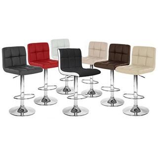 Boris Contemporary LeatherAdjustable Barstool (Set of 4) (4 options available)