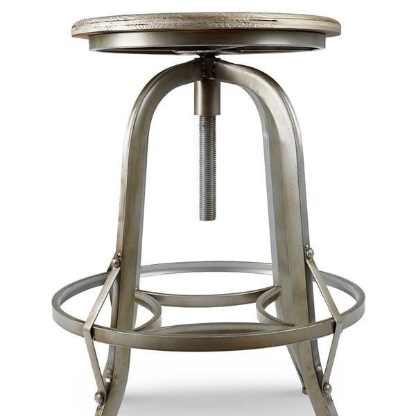 Chester Retro Steel Rotating Adjustable Height Barstool Overstock 10036893