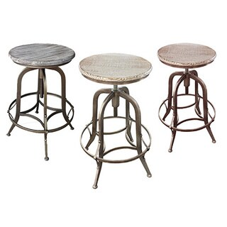 Chester Retro Steel Rotating Adjustable Height Barstool