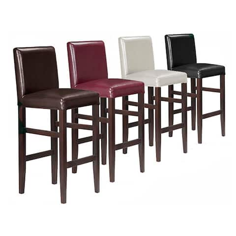 Kendall Contemporary Wood/ Faux Leather Barstool