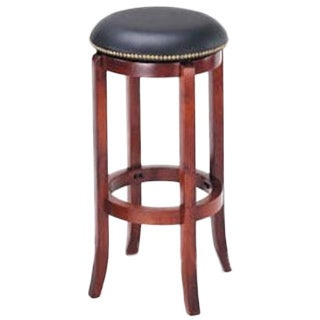 Shop Manchester Contemporary Wood Faux Leather Barstool