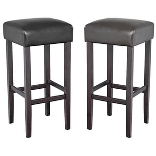 Piper Contemporary Wood/ Faux Leather Barstool