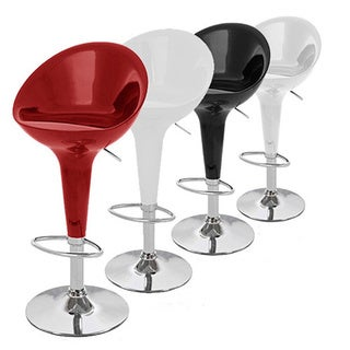 Beta Contemporary Bombo Style Adjustable Barstool (Set of 2)