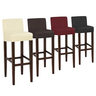Brooklyn Contemporary Wood/ Faux Leather Barstool (Set of 2)