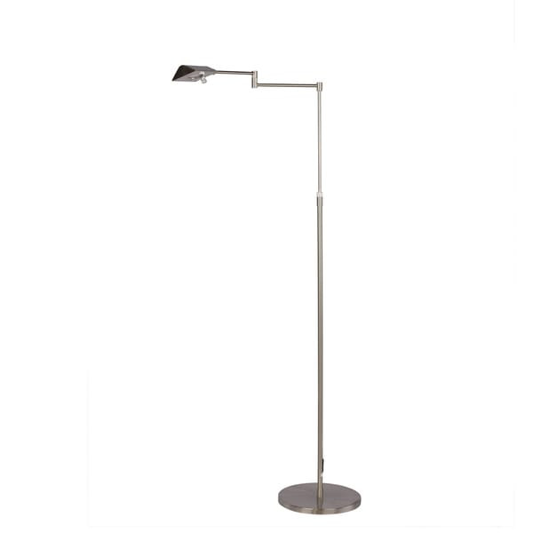 53.75 inch Adjustable LED Metal Floor Lamp in Satin Chrome