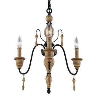 Feiss Matrimonio 3-light Driftwood Chandelier