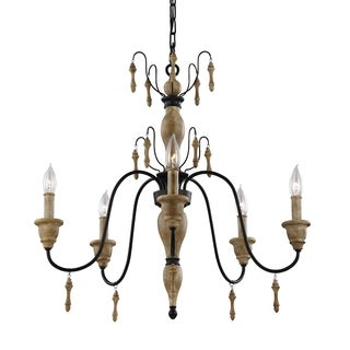 Feiss Matrimonio 5-light Driftwood Chandelier