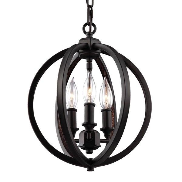 Feiss Corinne 3 Light Crystal Inlay Globe Pendant Good Looking