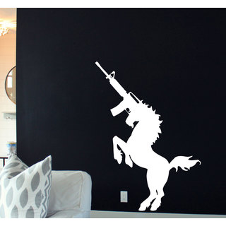 AK 47 Unicorn Sticker Vinyl Wall Art