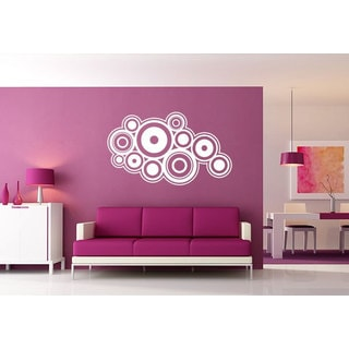 Abstract Circles Unique decor Sticker Vinyl Wall Art
