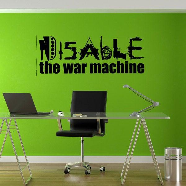 shop disable war machine love joy hippie sticker vinyl wall art
