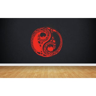 Dragon yin yang logo Sticker Vinyl Wall Art