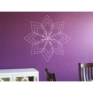Flower Lotus Peace Sign Sticker Vinyl Wall Art
