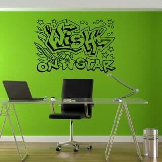 Wish on the Star Graffiti Hippie Sticker Vinyl Wall Art