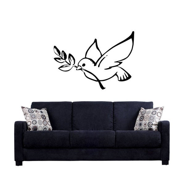 Dove Peace Sign Hippie Sticker Vinyl Wall Art