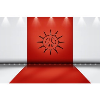 Sun Peace Sign Sticker Vinyl Wall Art