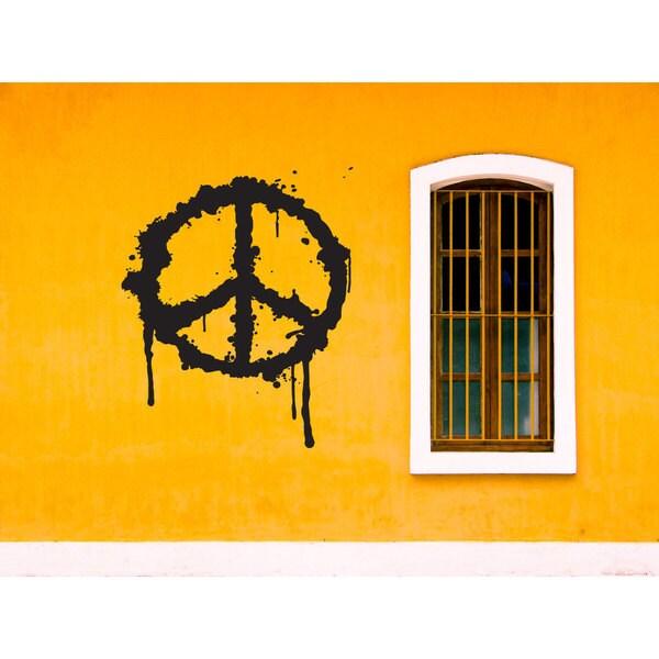 Peace Sign graffiti Paint Job Sticker Vinyl Wall Art