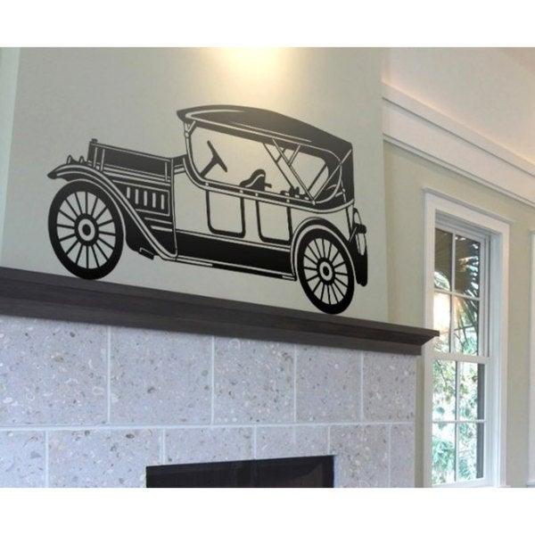 Antique Car Hot Rod Sticker Vinyl Wall Art - Free Shipping On Orders ...