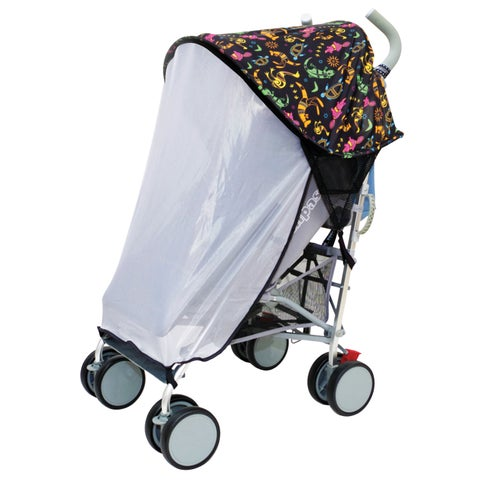 Dreambaby Strollerbuddy Extenda-Shade with Insect Netting-Animal Print