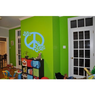 Flower with Peace Sign Sticker Vinyl Wall Art