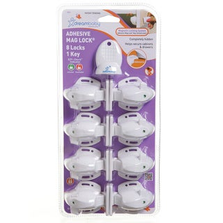 Dreambaby Adhesive Magnetic Lock-8 Locks 1 Key