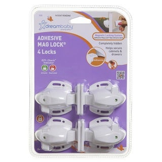 Dreambaby Adhesive Magnetic Locks-4 Locks