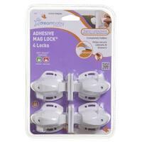 Dreambaby Adhesive Magnetic Locks-4 Locks