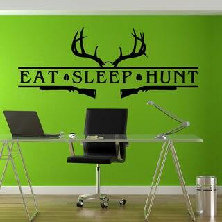 Eat Sleep Hunt Hunting Bow Rifle Deer Sticker Vinyl Wall Art