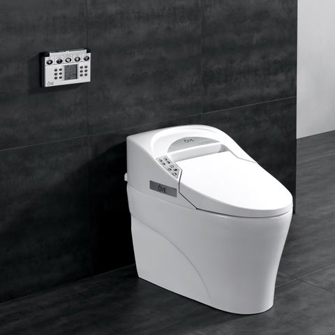 OVE Decors Elongated Remote Controlled Smart Bidet Toilet