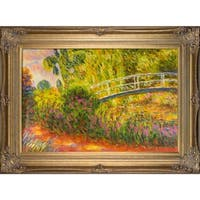 Claude Monet The Japanese Bridge Hand Painted Framed Canvas Art