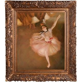 Edgar Degas Star Dancer (On Stage) Hand Painted Framed Canvas Art