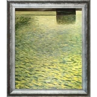 Gustav Klimt Island In lake Atter, Around 1901 Hand Painted Framed Canvas Art