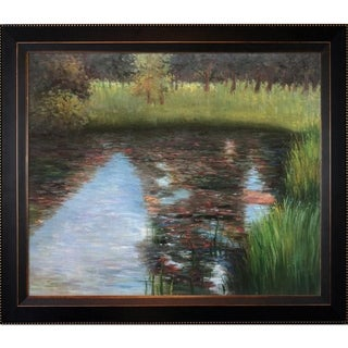Gustav Klimt The Swamp Hand Painted Framed Canvas Art