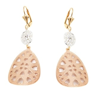 Rose Gold Plated Heart Teardrop Earrings|https://ak1.ostkcdn.com/images/products/10037335/P17182614.jpg?impolicy=medium