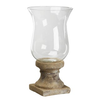 Bell Shape Glass Candle Holder with Stone Base