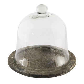 Bell Shape Glass Terrarium on Round Dish
