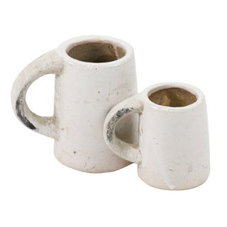 Distressed White Display Cup Pottery