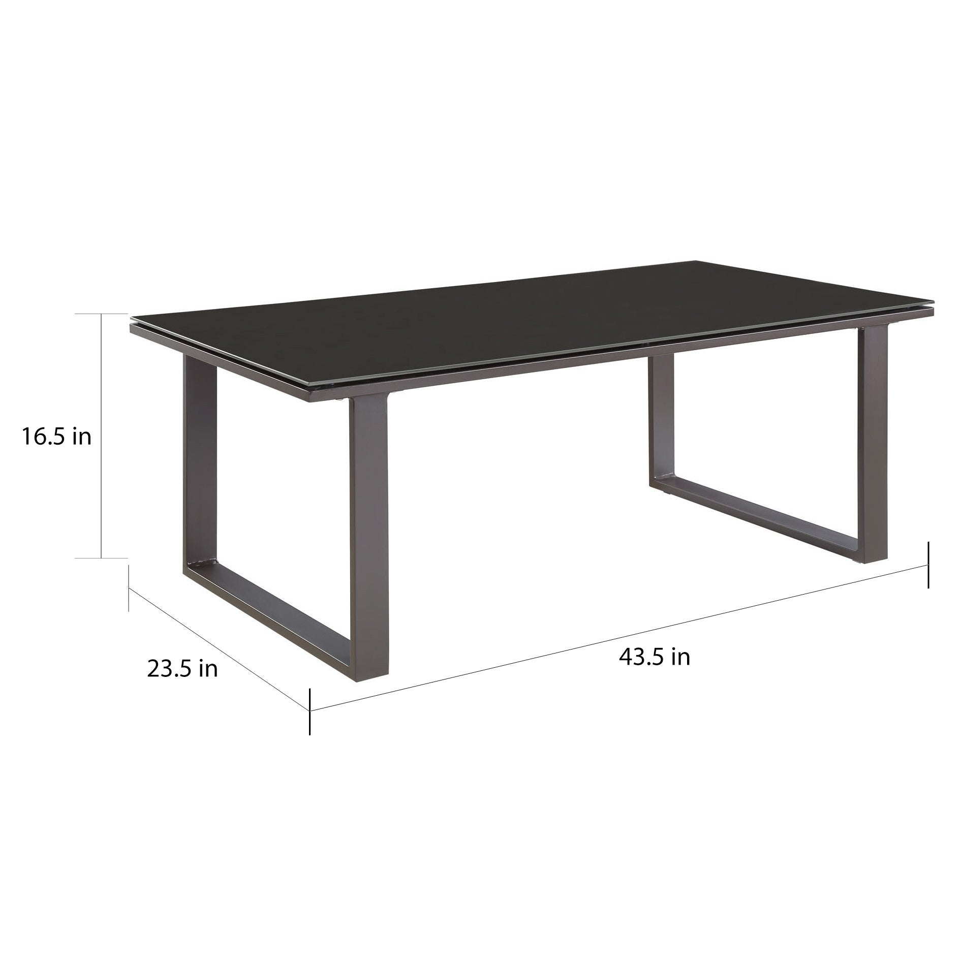 Gl Top Outdoor Patio Coffee Table